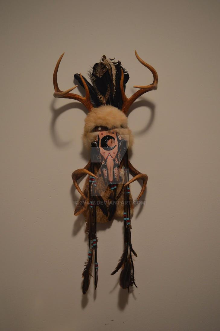 native american aboriginal deer skull by 3v412 on deviantart