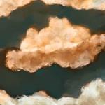 Golden Clouds Deep Skies