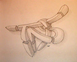 3d Graffiti Wildstyle sketch by tosch