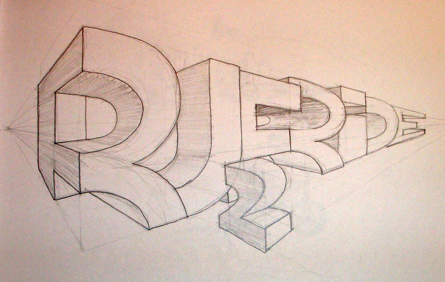 Graffiti Art Sketches 3d 3d Graffiti Sketch Ruffride