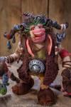 OOAK fantasy creature- goblin the runes keeper