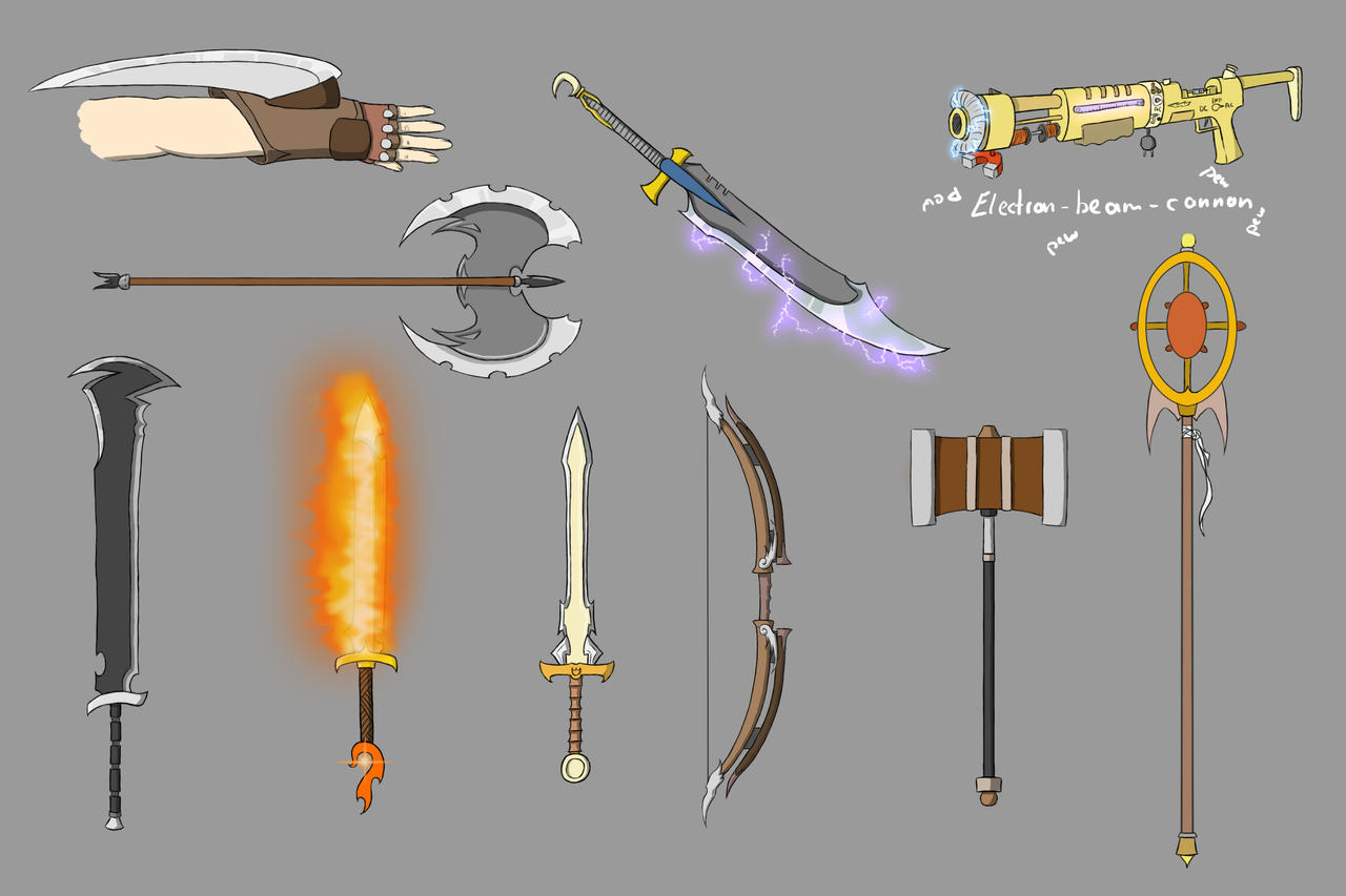 Weapons - Colored by Juh-Juh on DeviantArt
