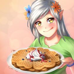Hearty Waffles by Juh-Juh
