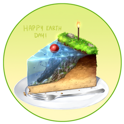 Earth Cake by Juh-Juh