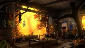 Treehouse - Autumn Sunset