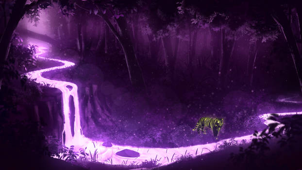 Purple Forest River