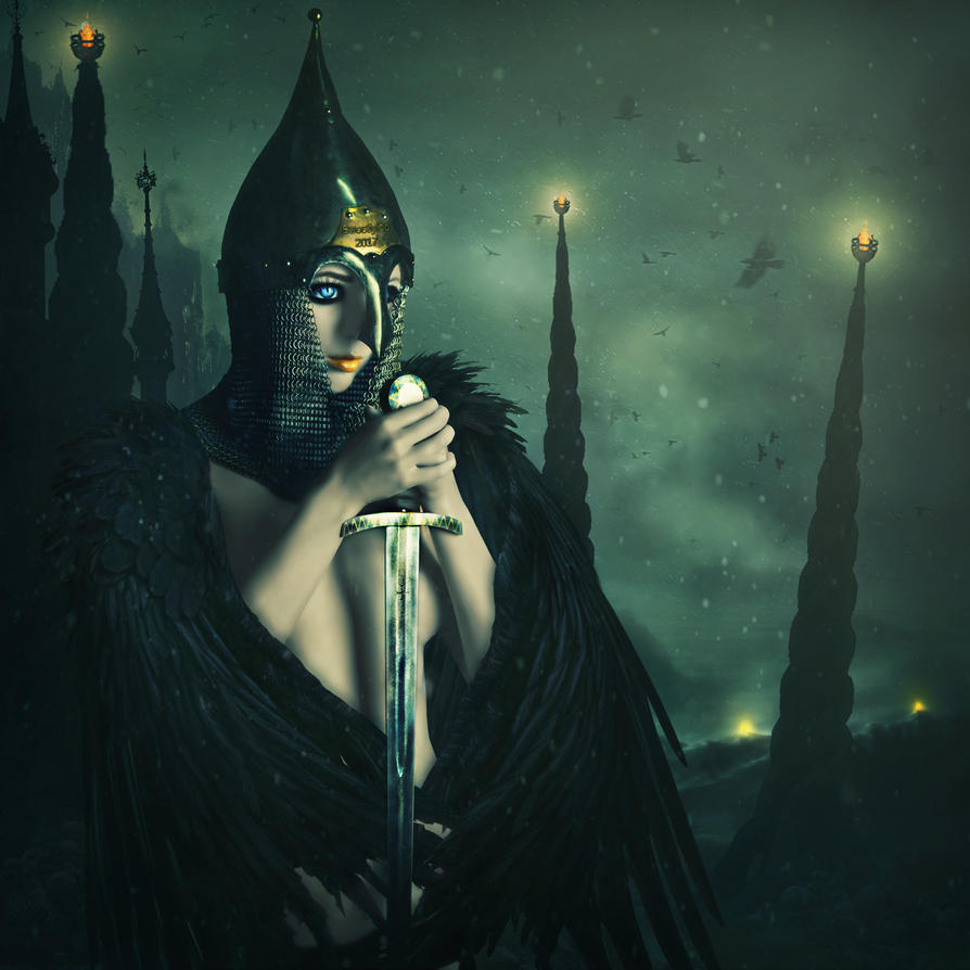 Miss raven warrior by Sweetlylou