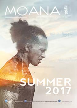Moana club flyer Summer 2017 double exposure