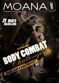 Moana Body Combat Challenge 2018 Flyer water grid