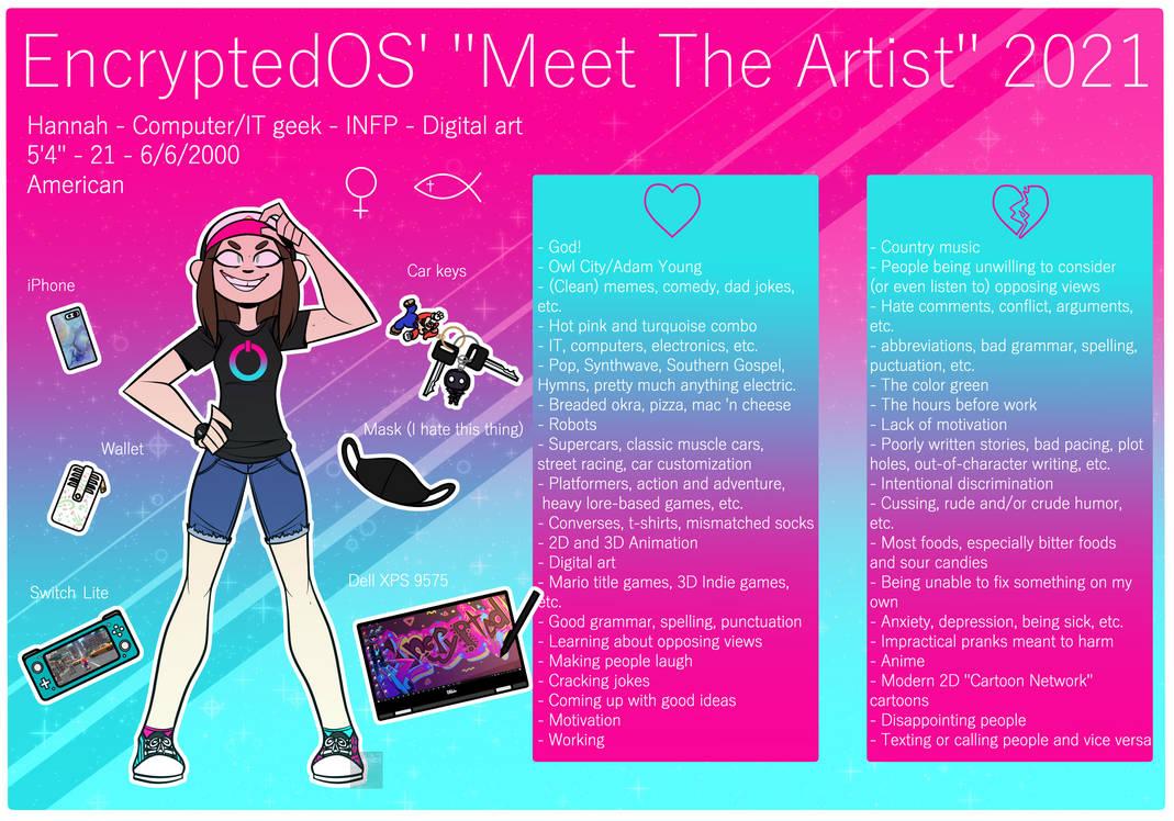 Meet the Artist - EncryptedOS 2021