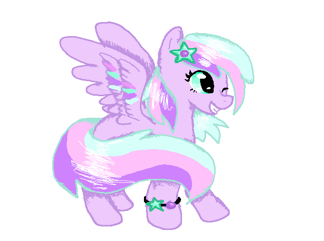 Free Adoptable Pony (TAKEN) by FluffyPuffthekitty