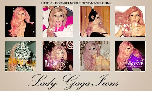Lady Gaga Icons by oscarelnoble