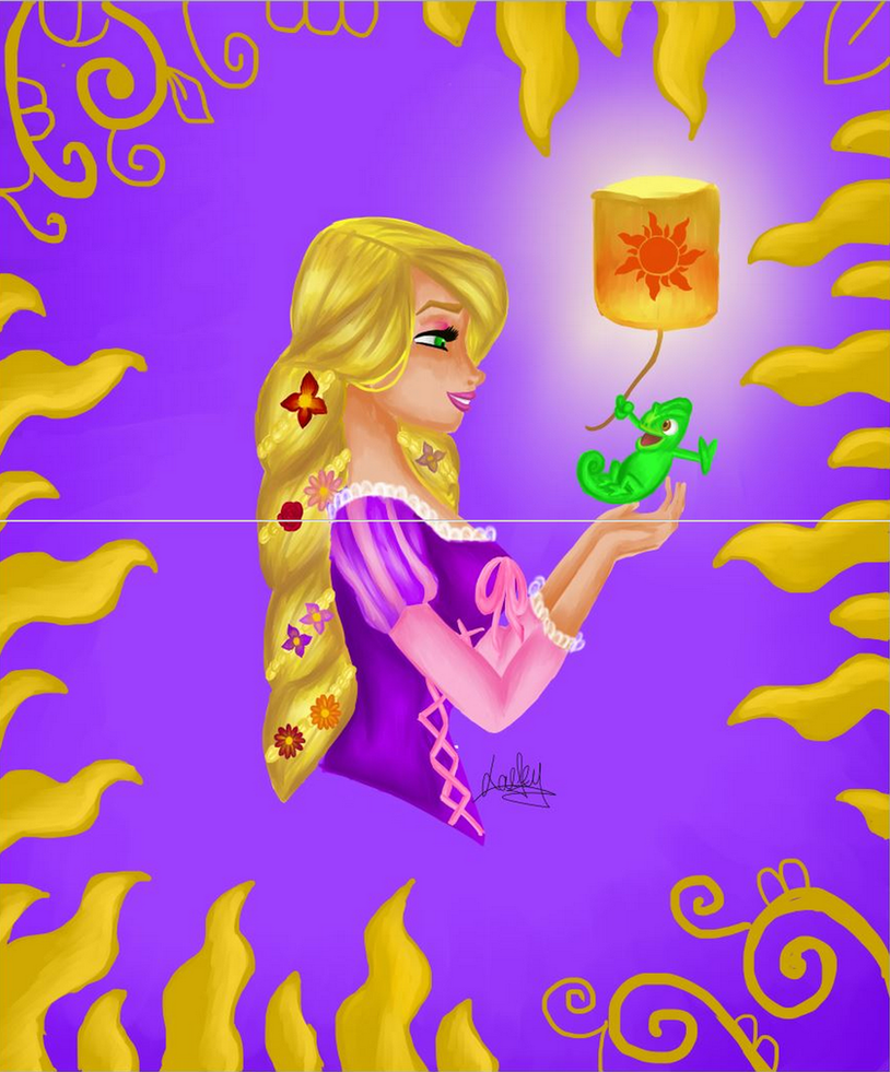 Princess Disney : Nostalgy Rapunzel by Laefey