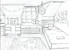 [ Background ] Bedroom Diana by Laefey