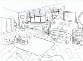 [ Background ] Bedroom Kiko by Laefey