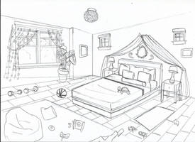 [ Background ] Bedroom Alex by Laefey