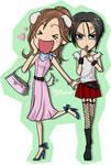 CHIBI-NANA and HACHI
