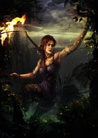 Light in the dark - Lara Croft by Wonderis