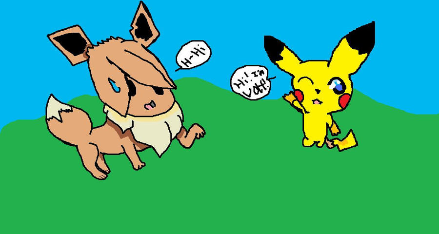 pikachu and eevee by AZOMEZEKROM185 on DeviantArt  pikachu and eev...