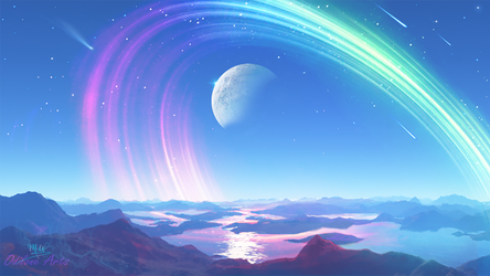 First Moon of Llynera by Odilone
