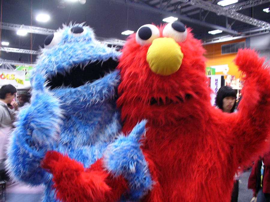 Elmo and Cookie break it down by pr0fessionaln00b on ...  Elmo And Cookie Monster Gangster