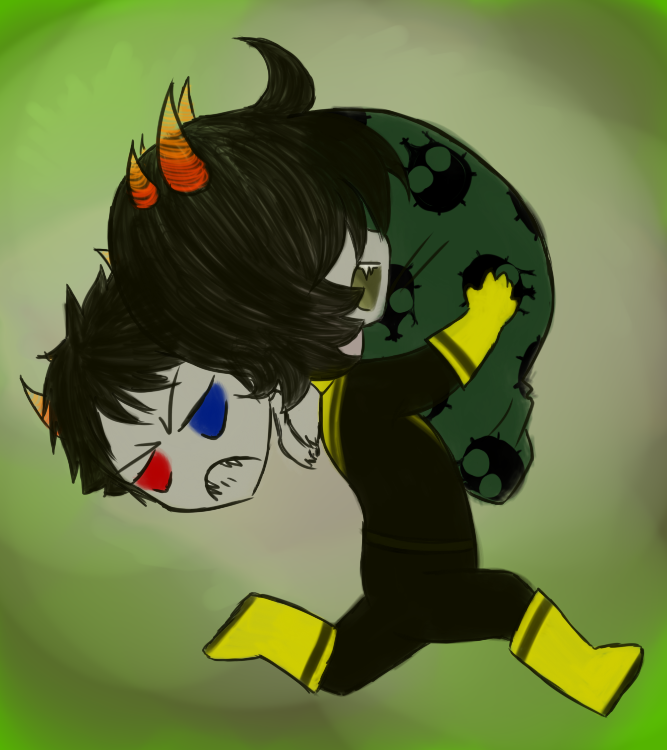 Mituna  Take Sollux and Abscond by SanchaySquirrelMituna And Sollux