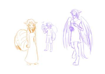 Stream Sketch: Species Swap by SanchaySquirrel