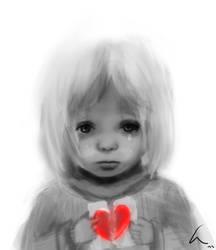 girl with broken heart