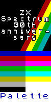 ZX Spectrum 30 Anniversary avatar and GIMP palette
