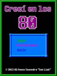 Boceto pantalla inicio Creci en los 80 by son-link