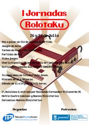 Cartel jornadas Rolotaku by son-link