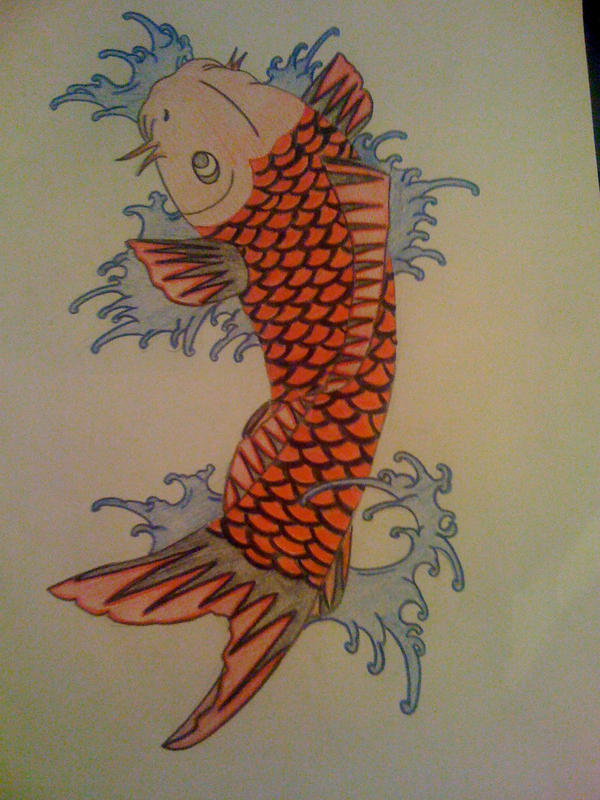 No strings attached tattoo images by lynne worthington for Koi fish quotes