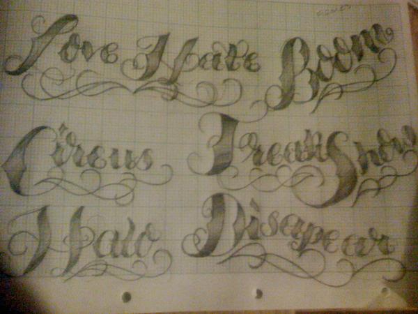 script lettering tattoo designs. Tattoo Script Lettering 4 by