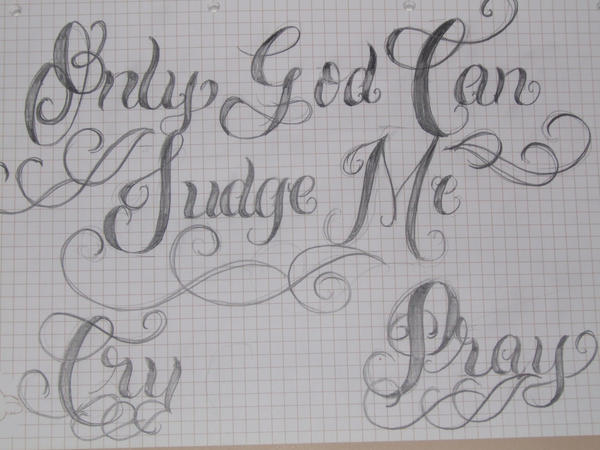 Only God Can Judge Me Tattoo Design Picture 7