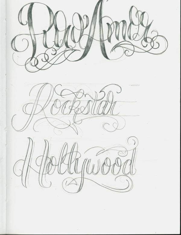 fancy lettering for tattoos. english fancy lettering
