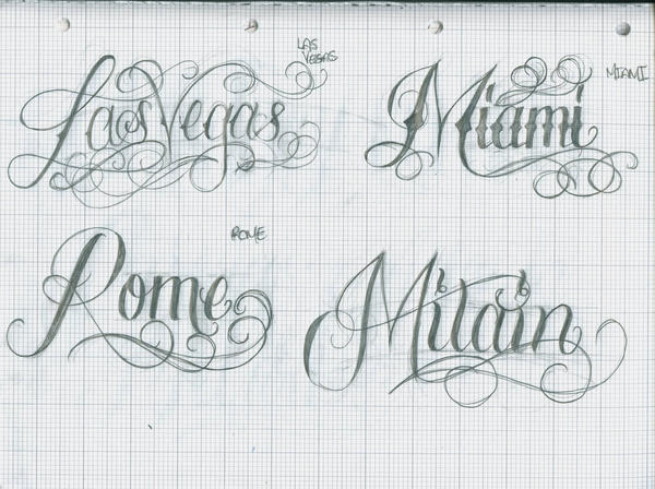 Tattoo Lettering Citys 28 By 12KathyLees12 On DeviantArt