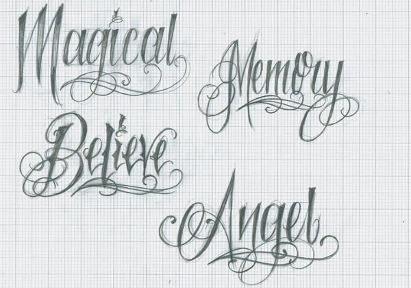 Tattoo Lettering 37 by