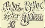 Tattoo Lettering Believe