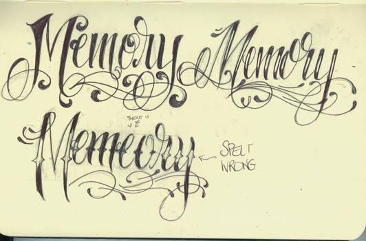 Memory Lettering