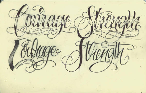 Tattoos About Strength And Courage
