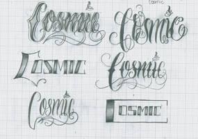 Cosmic Lettering by 12KathyLees12