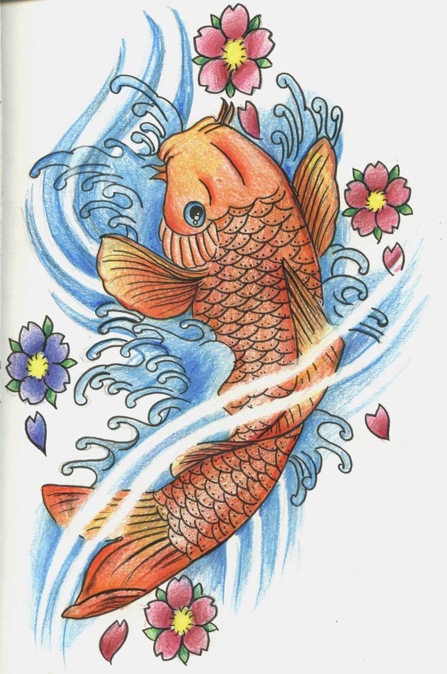 Koi fish 2 by 12kathylees12 on deviantart for Koi fish design
