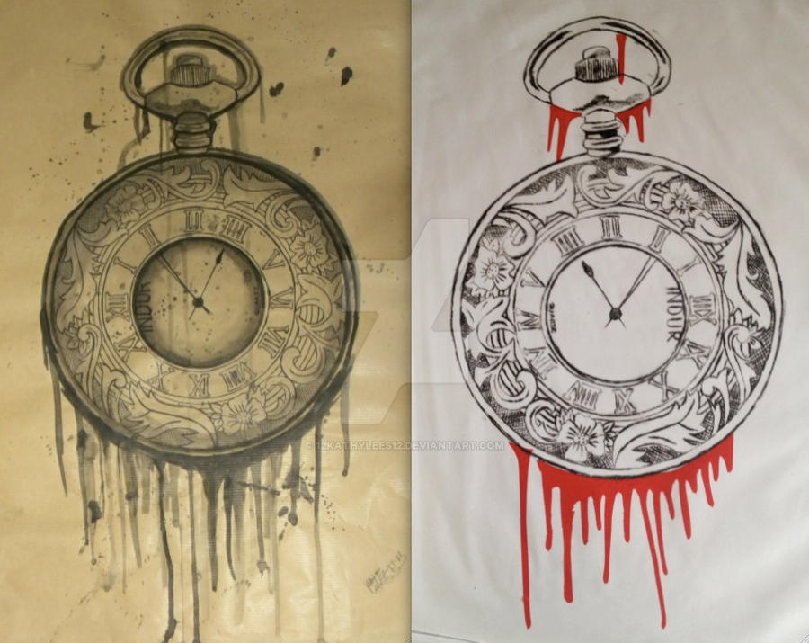 Pocket Watch print and drawing by 12KathyLees12 on DeviantArt