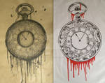 Pocket Watch print and drawing