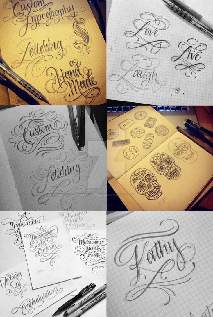 Lettering by 12KathyLees12