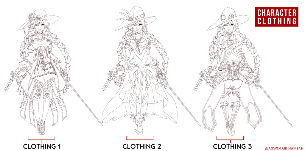 Skect Costume Line art by abiboge