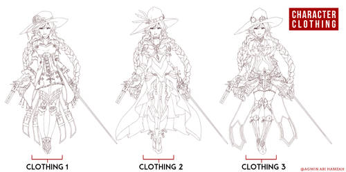Skect Costume Line art