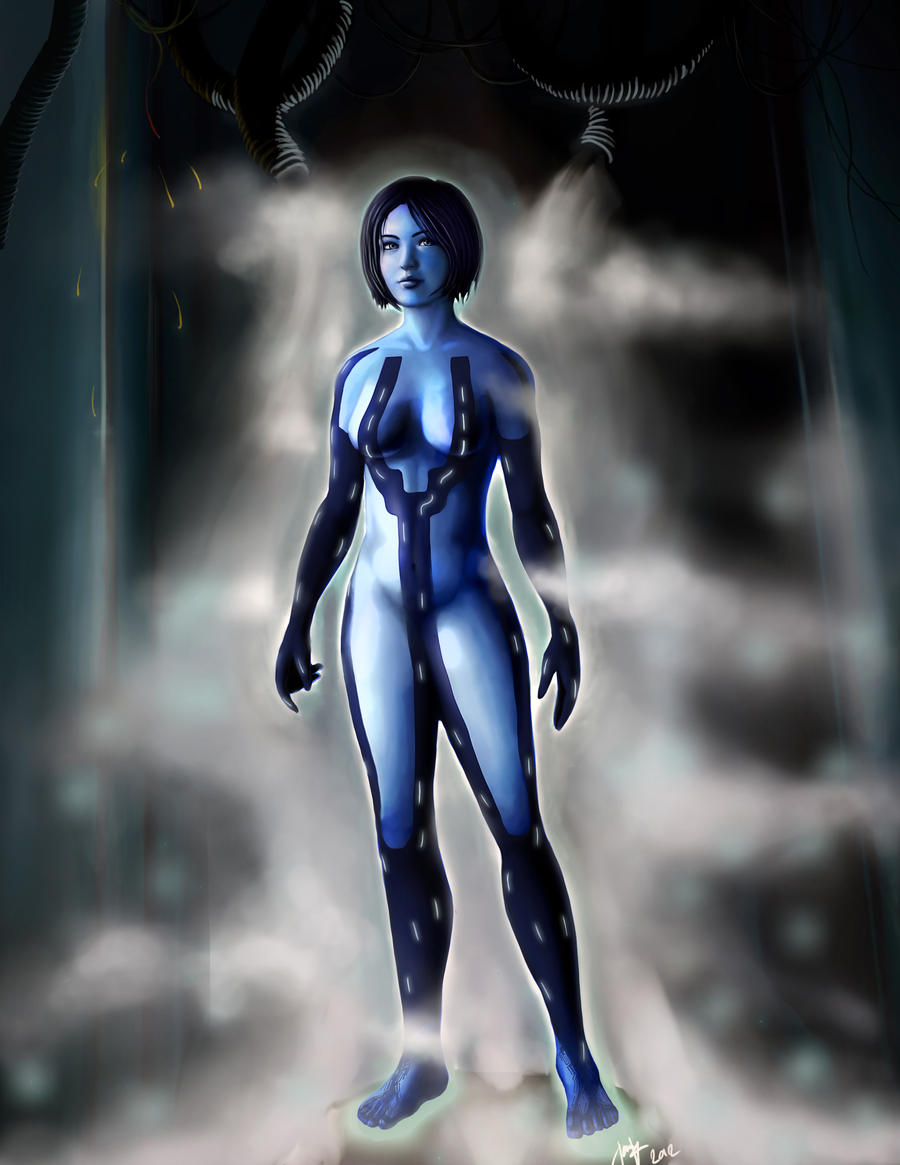 Halo 4 Cortana Background Large by PriceJames