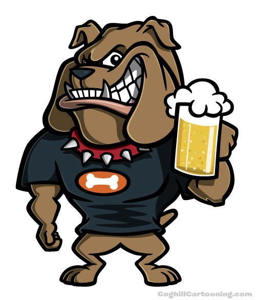 cartoon_bulldog_with_beer_by_gcoghill-d5