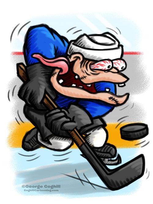 Hockey Player Hot Rod Cartoon Character Sketch By Gcoghill On Deviantart
